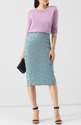 пуловер из смеси шерсти и кашемира с декоративными пуговицами