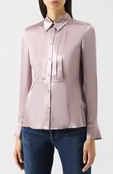 приталенная шелковая блуза
