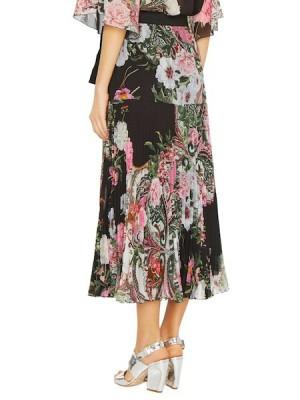 Плиссированная юбка с принтом «пейсли»
