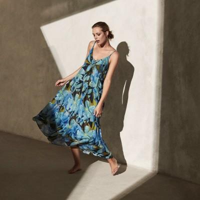 Платье в стиле бохо с гавайским принтом
