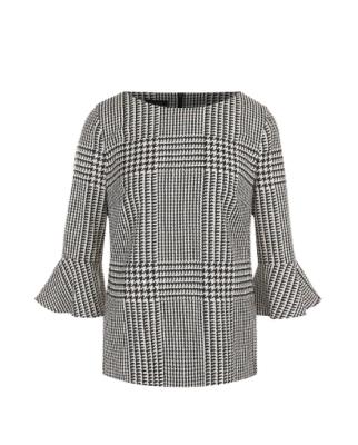 Блуза из смеси шерсти и вискозы в клетку