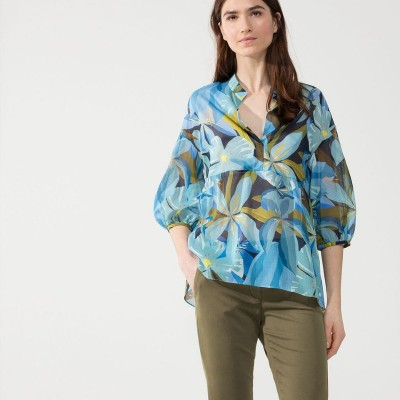Блуза-туника с гавайским принтом
