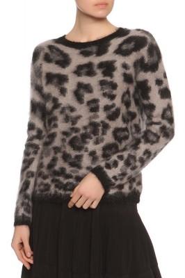 Джемпер с леопардовым принтом