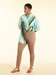 Хлопковые атласные брюки