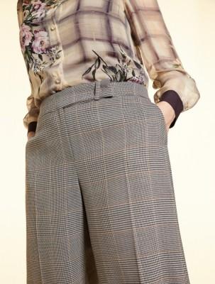 """Широкие брюки из шерсти в клетку """"Принц Уэльский"""""""
