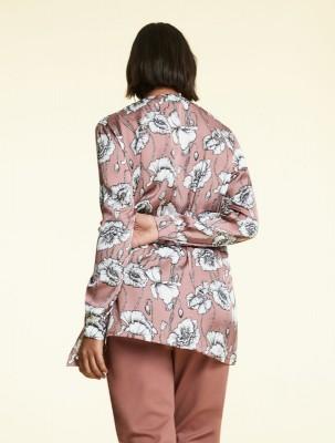 Атласная рубашка с принтом