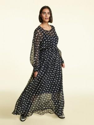 Длинное платье из шелкового шифона
