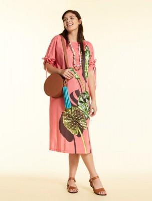 Платье из хлопка и вискозы