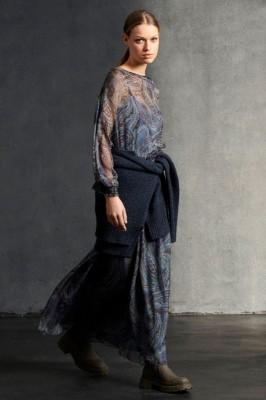 Шелковая блуза с принтом пейсли