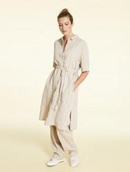 платье- рубашка из смеси хлопка и льна