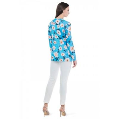 Блуза прямого кроя с принтом