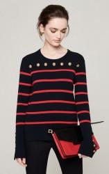 Темно- синий пуловер
