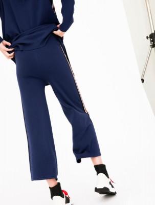 брюки с контрастными лампасами