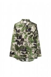 Блуза с принтом в виде листьев