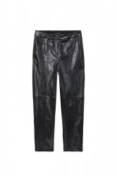 Прямые брюки из исскуственной кожи