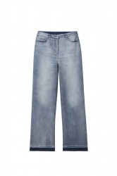 Выбеленные джинсы палаццо