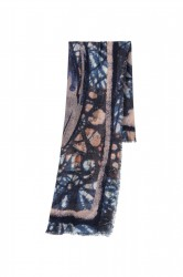 Шерстяной шарф с принтом