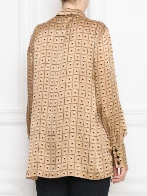 Блуза из шелка с принтом