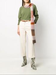 шарф в широкую полоску