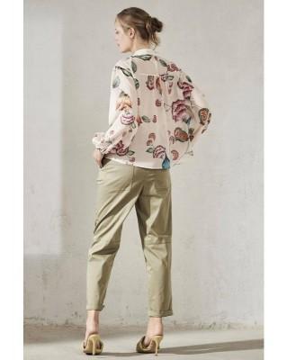 Блуза с винтажным принтом