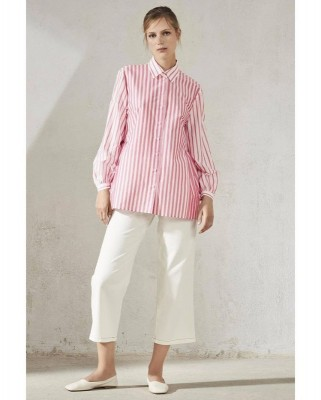 Блузка в контрастную полоску