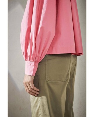 Блузка из хлопка свободного силуэта
