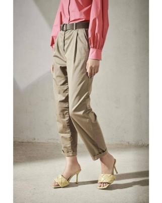 Зауженные брюки из хлока