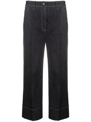 укороченные джинсы широкого кроя