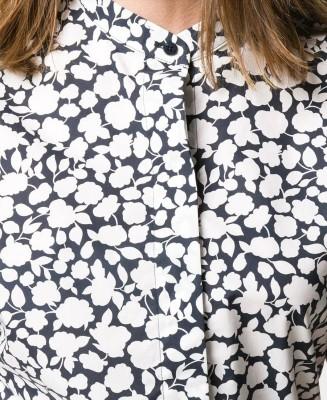 Двухцветная рубашка с принтом